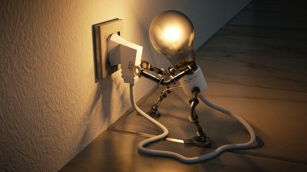 Glühbirne und Licht
