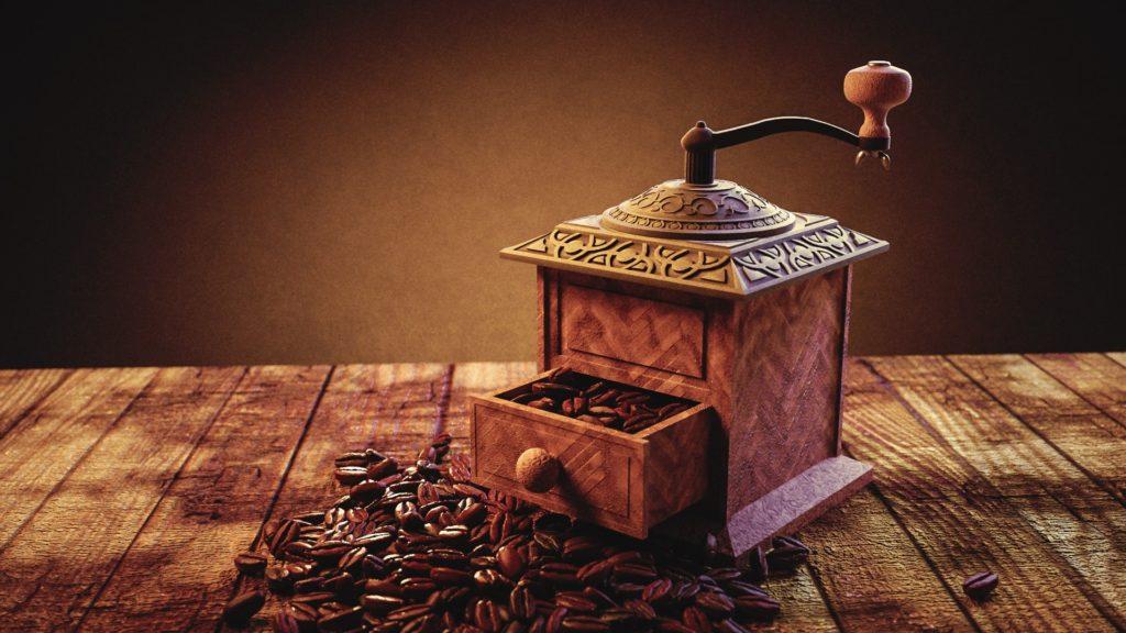 Kaffee und getreidemühle